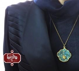 آویز فیروزه کوب پرنده