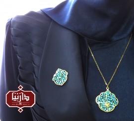 گردن آویز فیروزه پرنده