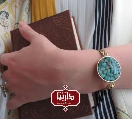 دستبند فیروزه کوب (ویژه قرعه کشی جشنواره هفتگی هدیه های دوست داشتنی)