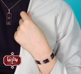 دستبند نقره و قالی تکبنت
