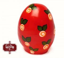 تخم مرغ سفالی رنگی قرمز