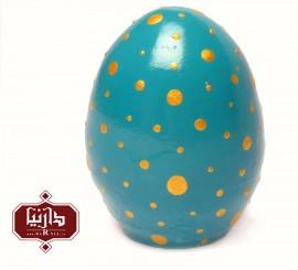 تخم مرغ سفالی رنگی فیروزه ای