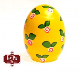 تخم مرغ سفالی رنگی زرد