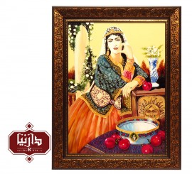 تابلو ویترای دختر قاجار