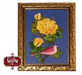 تابلو ویترای گل و مرغ 1171