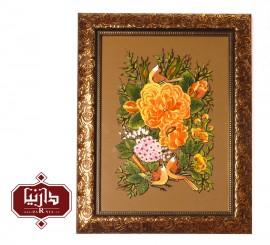 تابلو ویترای گل و مرغ 1172