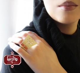 انگشتر زنانه برنجی گل 1150