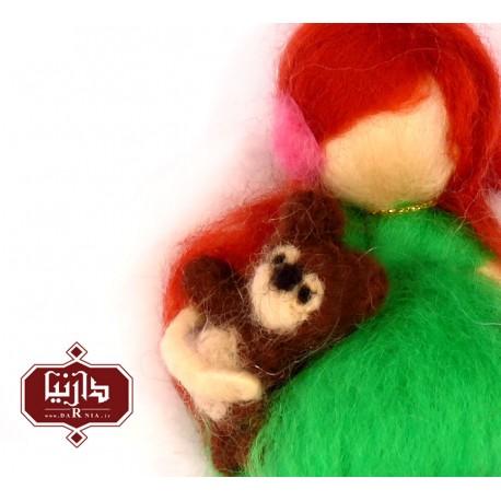 آویز عروسکی فرشته و خرس مهربون