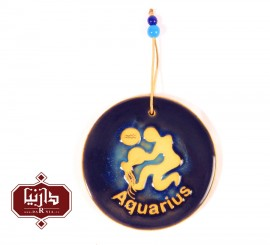 آویز سفالی ماه بهمن