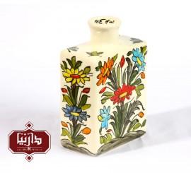 گلدان سرامیکی مستطیل طرح گل و سبزه