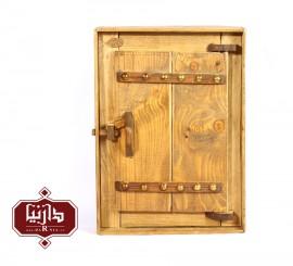 جا کلیدی چوبی طرح درب سنتی