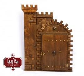 قاب آینه چوبی برج و بارو