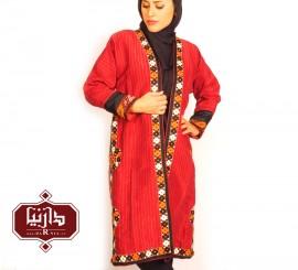 تن پوش ترکمن قرمز