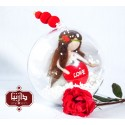 گوی هدیه عروسک عشق