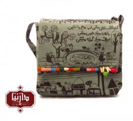 کیف پارچه ای مستطیل فرفره رنگی