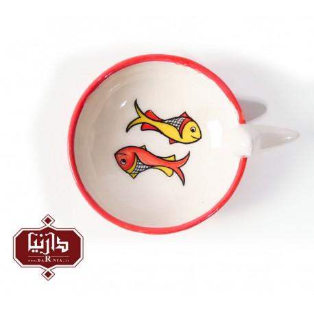 بشقاب ماهی و پرنده