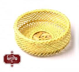سبد بامبو گرد خورشیدی سایز کوچک