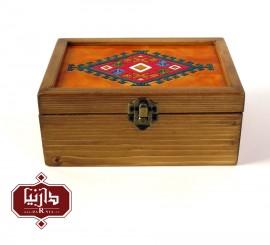 جعبه چوبی طرح ترکمن سایز متوسط