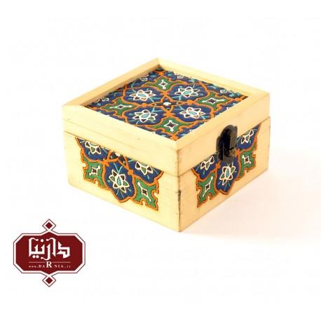 جعبه چوبی نگارگری کوچک