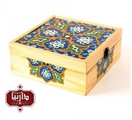 جعبه چوبی نگارگری سایز بزرگ