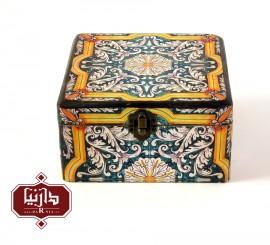 جعبه چوبی طرح گل سایز متوسط