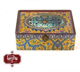 جعبه چوبی طرح سنتی سایز بزرگ