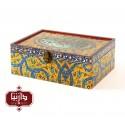 جعبه چوبی طرح گل سنتی سایز بزرگ