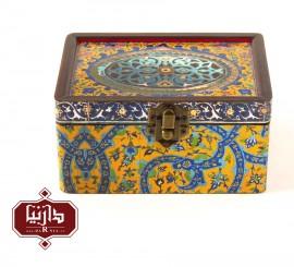 جعبه چوبی طرح سنتی سایز کوچک