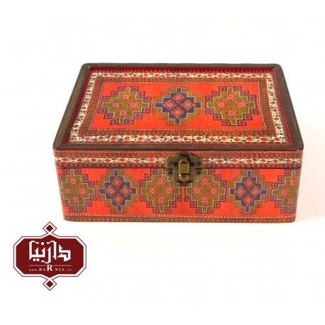 جعبه چوبی طرح سنتی سایز متوسط