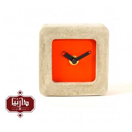 ساعت رومیزی نارنجی حباب