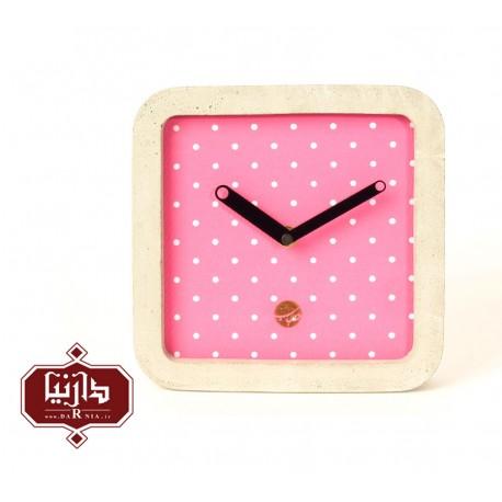 ساعت دیواری صورتی حباب