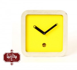 ساعت دیواری زرد حباب