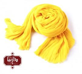 شال الیاف طبیعی زرد