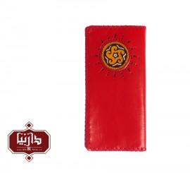 کیف پول چرم طبیعی سوزندوزی ترکمن