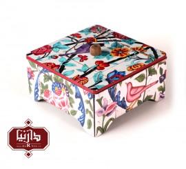 جعبه چای طرح پرنده