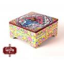 جعبه چای طرح گل و گلدون