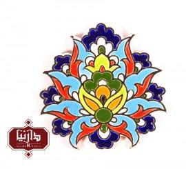 مگنت کاشی گل شاه عباسی هفت رنگ