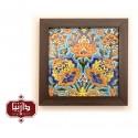 تابلو کاشی مربع کوچک طرح گل شاه عباسی