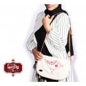 کیف پارچه ای دستبافت گلدوزی شده طرح جوجه