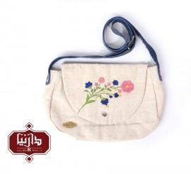 کیف پارچه ای دستبافت گلدوزی شده طرح گل 2