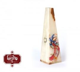 گلدان سنگ مرمر اثر بابايي طرح مینیاتور دو چهره