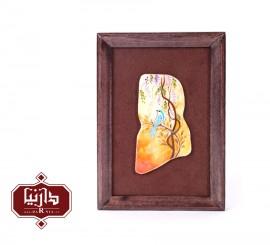 تابلو سنگ مرمر اثر بابايي طرح گل و مرغ