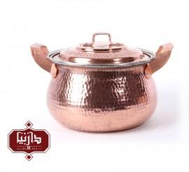 قابلمه مسی زنجان اثر نظریان طرح تیانچه سایز 2