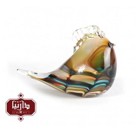 مجسمه شیشه ای گالری آبین طرح پرنده 4