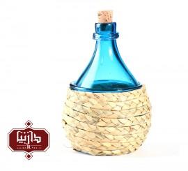 بطری بزرگ شیشه و حصیر گالری آبین طرح 3