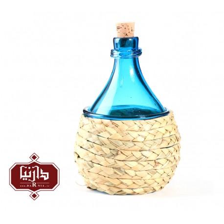 بطری بزرگ شیشه و حصیر گالری آبین طرح 2