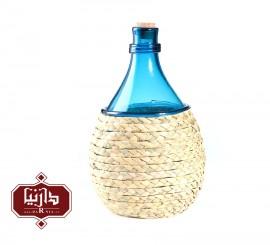 بطری کوچک شیشه و حصیر گالری آبین طرح 1