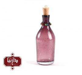 بطری شیشه ای کوچک گالری آبین طرح 2 آبگز رنگ بنفش