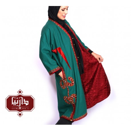 تن پوش ترکمن رنگ سبز طرح 3