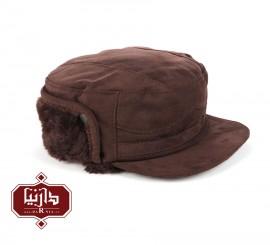 کلاه چرم جیر طبیعی رنگ قهوه ای